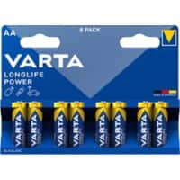 VARTA Batterien LONGLIFE Power AA 8 Stück
