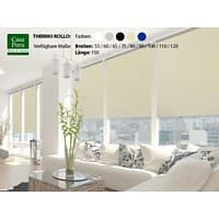 Casa Pura Verdunkelungsrollo Blackout Thermo Polyester Creme 600 x 1500 mm