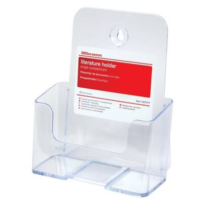Office Depot Tischaufsteller A5 Transparent Kunststoff 165 x 90 x 232 mm