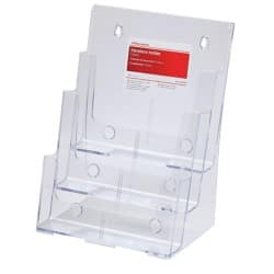 Office Depot Tischaufsteller A4 Transparent Kunststoff 230 x 160 x 320 mm