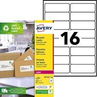 Avery QuickPEEL Recycling-Adress-Etiketten 99,1 x 33,9 mm 100 Blatt à 16 Etiketten
