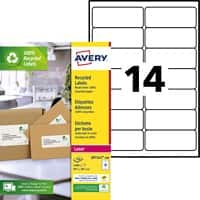 Avery QuickPEEL Recycling-Adress-Etiketten 99,1 x 38,1 mm 100 Blatt à 14 Etiketten