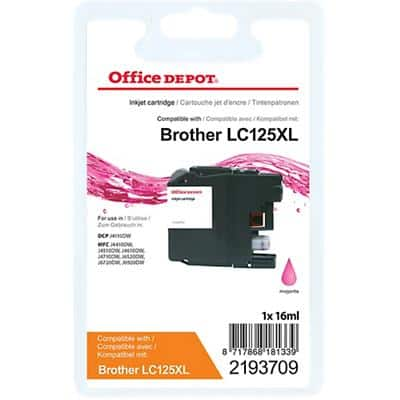 Kompatible Office Depot Brother LC125XL Tintenpatrone Magenta