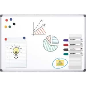 office depot standard whiteboard lackierter stahl magnetisch 150 x 100 cm viking osterreich. Black Bedroom Furniture Sets. Home Design Ideas