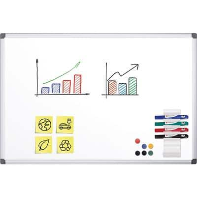 Office Depot Superior Whiteboard Emaille Magnetisch 90 x 60 cm