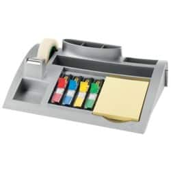 Post-it Schreibtischorganizer C50 Silber inkl. 1 x Notes gelb, 4 x Index Mini, 1 x Scotch Magic Tape