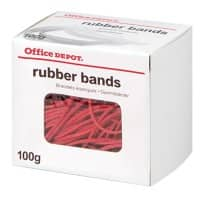 Office Depot Gummibänder Rot 80 x 1,5 mm 100 g