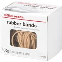 Office Depot Gummibänder 80 x 1,5 mm 50 mm 100 g