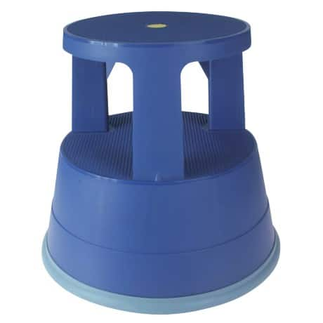 Office Depot Rollhocker Two Step Blau 41,5 x 28,3 x 37,4 cm