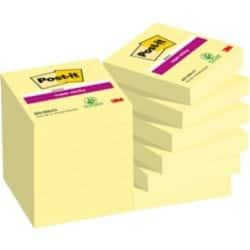 Post-it Notes Super Sticky 62212SY Gelb Blanko 48 x 48 mm 12 Stück à 90 Blatt