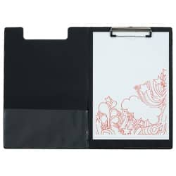 Office Depot Klemmbrett Fold-over Schwarz A4 PVC