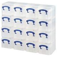 Really Useful Boxes Aufbewahrungsbox 0.3LCORG 300 ml Transparent Kunststoff 37,5 x 12,5 x 31 cm