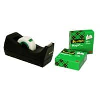 Scotch Tischabroller Schwarz + 3 Rollen Scotch Magic Klebefilm
