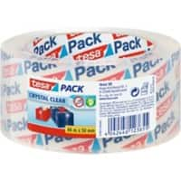 tesapack Paketband Crystal Clear 66 m Transparent