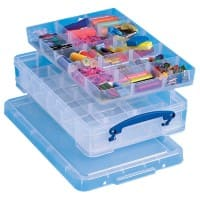 Really Useful Boxes Aufbewahrungsbox 4 L Transparent Kunststoff 39,5 x 25,5 x 8,5 cm