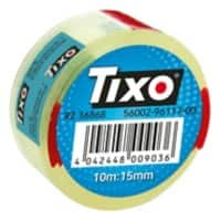 TIXO Klebefilm 207456 15 mm x 10 m Transparent