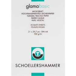 SCHOELLERSHAMMER Skizzenblock A4 100/105 g/m² 210 x 297 mm Transparent 50 Blatt