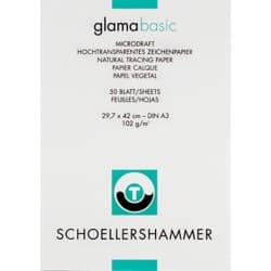 SCHOELLERSHAMMER Skizzenblock A3 100/105 g/m² 297 x 420 mm Transparent 50 Blatt