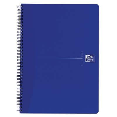 OXFORD Office Essentials A4+ Drahtgebundenes Notizbuch BlaucPappcover, liniert 70 Blatt