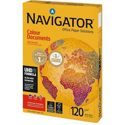 Navigator Colour Documents Kopier-/ Druckerpapier DIN A4 120 g/m² Weiß 250 Blatt
