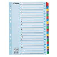 Esselte Register Carton Index DIN A4 20-teilig 11-fach Mylar A - Z