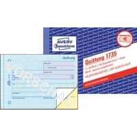AVERY Zweckform Quittungsblock 1735 DIN A6 quer Mikroperforation 80 Blatt