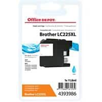 Kompatible Office Depot Brother LC225XL Tintenpatrone Cyan
