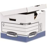 Fellowes Klappdeckel-Container Bankers Box 37,7 x 39,5 x 31 cm 10 Stück