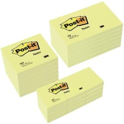 Post-it Sticky Notes 654655P Gelb Blanko 76 x 127 mm 70 g/m² 24 Stück à 100 Blatt