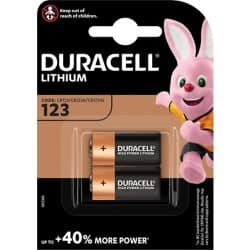 Duracell Photobatterie/ DUR020320, Ultra Photo CR123A, Inh. 2 Stück