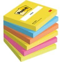 Post-it Haftnotizen Active Collection 76 x 76 mm Farbig sortiert 6 Stück à 100 Blatt