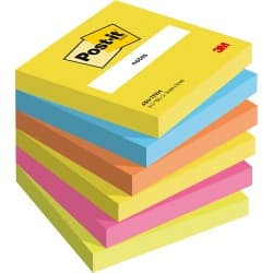 Post-it Haftnotizen Active Collection Färbig sortiert Blanko 76 x 76 mm 70 g/m² 6 Stück à 100 Blatt