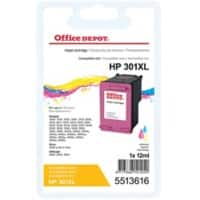 Kompatible Office Depot HP 301XL Tintenpatrone CH564EE 3 Farbig