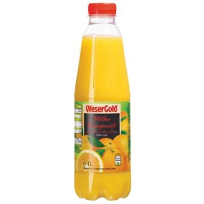 riha WeserGold Fruchtsaft Orange Mild 1 L