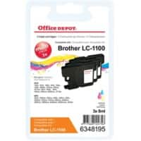Kompatible Office Depot Brother LC1100 Tintenpatrone 3 Farbig 3 Stück