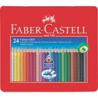 Faber-Castell Farbstift Colour GRIP 2001 112423, Mine 3 mm, 24er Metall-Etui