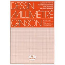 Canson Millimeterpapier A3 80 g/m² 297 x 420 mm Orange 50 Stück