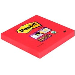 Post-it Notes Super Sticky Magenta Blanko 76 x 76 mm 70 g/m² 90 Blatt