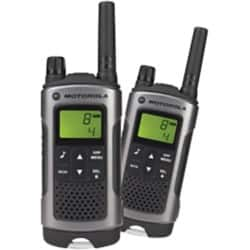 Motorola Walkie Talkie T80 Walkie Talkie Twin Pack Schwarz, Silber