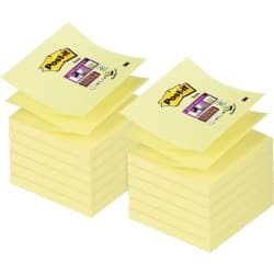 Post-it Haftnotizen Super Sticky Z-notes Gelb Blanko 76 x 76 mm 70 g/m² 12 Stück à 90 Blatt