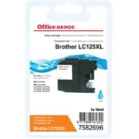 Kompatible Office Depot Brother LC125XL Tintenpatrone Cyan