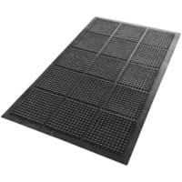 Floortex Fussbodenmatte Anti-Fatigue Schwarz 150 x 90 cm