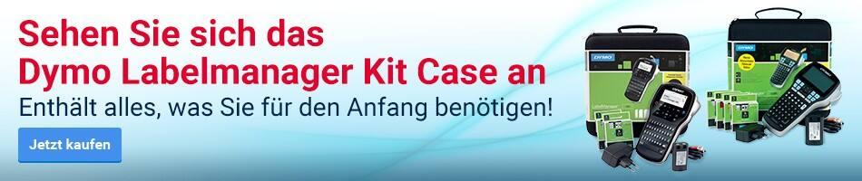 Sehen Sie sich das Dymo Labelmanager Kit Case an - Enthält alles, was Sie für den Anfang benötigen!