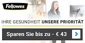 Bis zu -€ 43  Auf ausgewählte Fellowes Ergonomie-Produkte