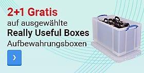 2+1 Gratis auf ausgewählte Really Useful Boxes Aufbewahrungsboxen